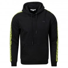 MCQ Mens Black Pullover Hoody with Logo Sleeve Tape