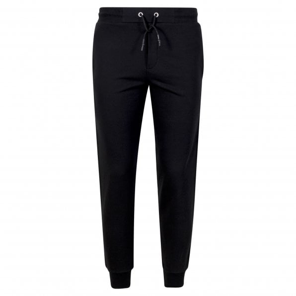 McQ ALEXANDER McQUEEN MCQ Mens Black Track Bottoms with Large Text Logo