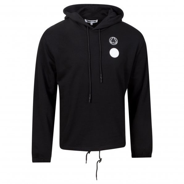McQ ALEXANDER McQUEEN MCQ Mens Drawstring Circular Logo Black Hoody