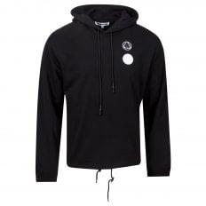 MCQ Mens Drawstring Circular Logo Black Hoody