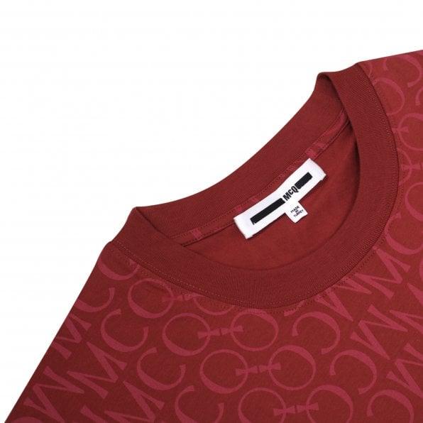 McQ ALEXANDER McQUEEN MCQ Mens Jacquard Logo Rust T Shirt