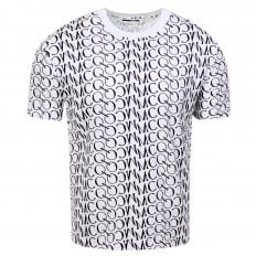 MCQ Mens Jacquard Logo White T Shirt