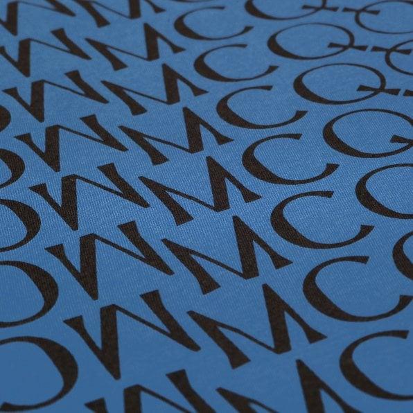 McQ ALEXANDER McQUEEN MCQ Mens Jacquard Logo Wire Blue T Shirt