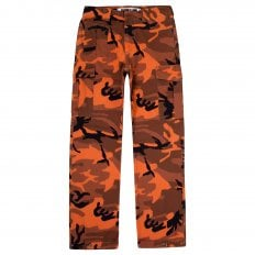 MCQ Mens Orange Camo Pants