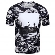 MCQ Mens Surf and Waves Black T Shirt