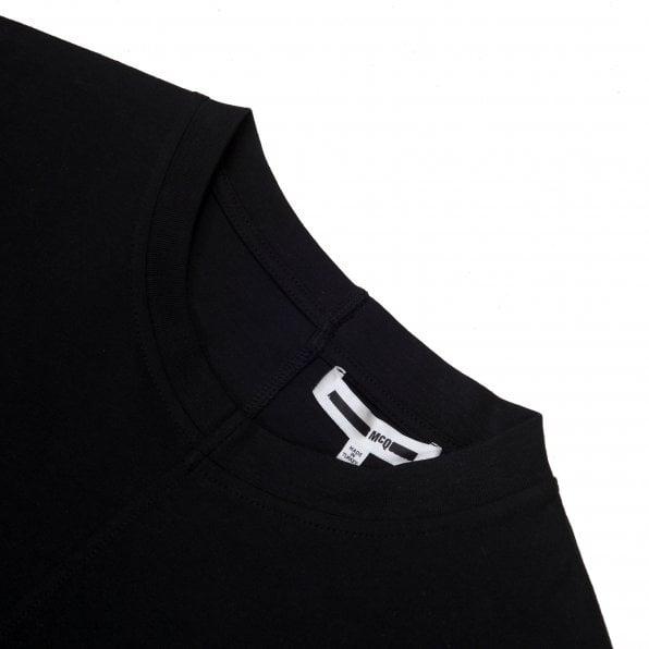 McQ ALEXANDER McQUEEN MCQ Mens Upcycled Patch Black T Shirt