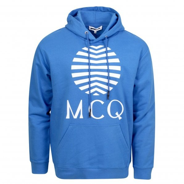 McQ ALEXANDER McQUEEN MCQ Mens Wire Blue Logo Hoody