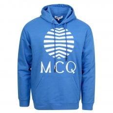 MCQ Mens Wire Blue Logo Hoody