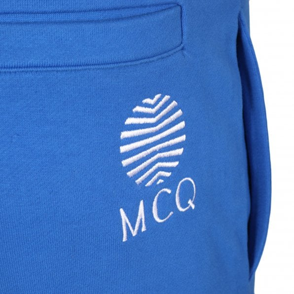 McQ ALEXANDER McQUEEN MCQ Wire Blue Mens Embroidered Logo Track Bottoms
