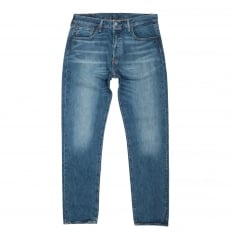 Mens Blue Oriiginal Fit 501 Washed Finish Custom Tapered Fit Rich Blend Denim Jeans by Levis