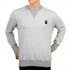 Mens Cotton Grey Crew Neck Sweatshirt with V Insert