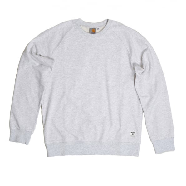 CARHARTT Mens Crew Neck Ash Heather Cotton Mix Holbrook LT Regular Fit Sweatshirt by Carhartt CARH7257