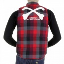 RMC MKWS Mens Down Filled Red Check Regular Fit Padded Gilet