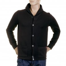 Mens Heavy Gauge Button up Regular Fit Jacket with Black Collar