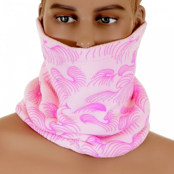 RMC MKWS Mens Light Pink Reversible Neck Warmer Snood