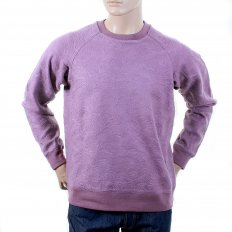 Mens Lilac Large Fitting Crew Neck Sweat Shirt
