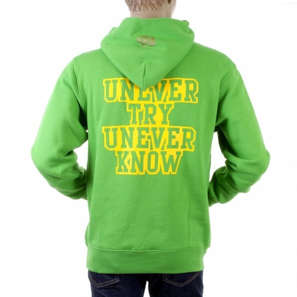RMC JEANS Mens Lime Green Overhead Large Fitting Sweat Shirt