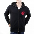 RMC JEANS Mens Marl Grey Large Fitting Zipped Front Hooded Sweatshirt