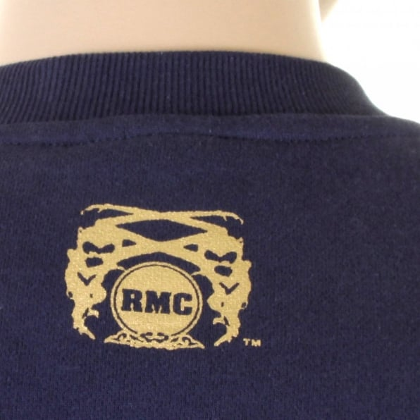 RMC JEANS Mens Navy Overhead Large Fitting Sweatshirt