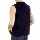 RMC MKWS Mens Navy Plush Fleece Sleeveless Regular Fit Jacket Gilet