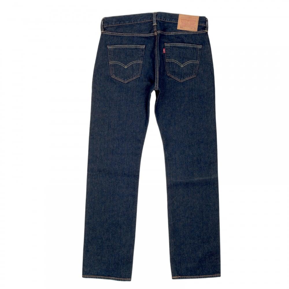 Original Fit Dark Indigo Denim Jeans for Men by Levis