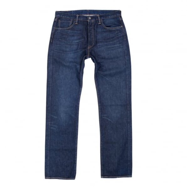 LEVIS Mens Original Fit 501 Regular Waist Straight Leg Button Fly Washed Blue Chip Jeans by Levis