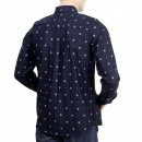 CARHARTT Mens Printed 100% Cotton Slim Fit Long Sleeve Shirt with Button Down Collar