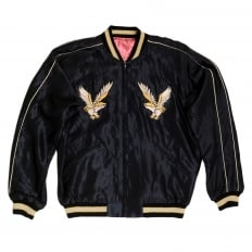 Mens Regular Fit Fully Reversible Suka Jacket in Black and Pink with Eagle Embroidery by Tailor Toyo TOYO7526