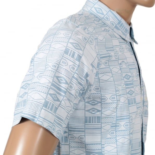 CARHARTT Mens Regular Fit Gary Apache Print Short Sleeve Shirt with Vertical Opening Chest Pockets by Carhartt
