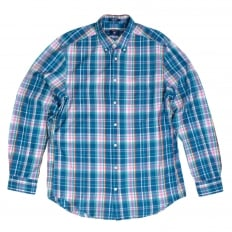 Mens Regular Fit Long Sleeve Button Down Collar Birdie Madras Check Cotton Casual Mens Shirt by Gant