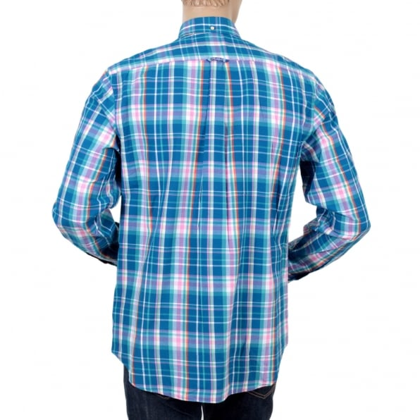 GANT Mens Regular Fit Long Sleeve Button Down Collar Birdie Madras Check Cotton Casual Mens Shirt by Gant