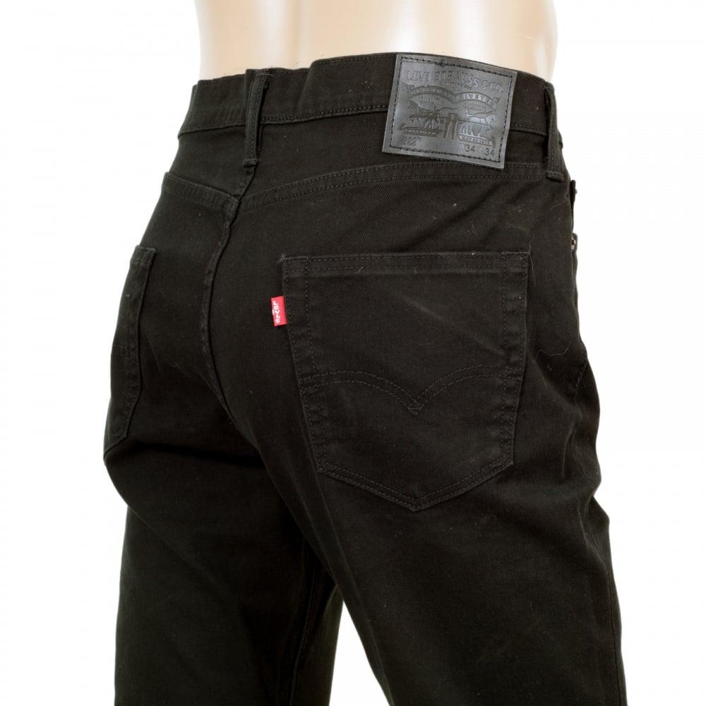 3e66af5a791 ... LEVIS Mens Slim Fit Low Waist Zip Fly 522 Jet Washed Black Stretch  Cotton Denim Jeans ...