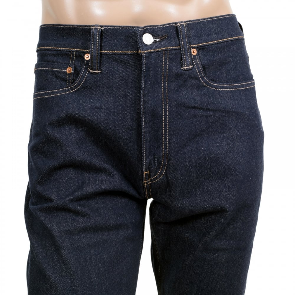 d2049e9d2b9 LEVIS Mens Slim Tapered Fit 522 Big Blend Dark Blue Low Waist Zip Fly Denim  Jeans ...