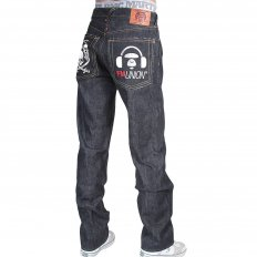 Mens Super Exclusive Design Indigo Raw Denim Cotton Jean