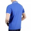 MERC Mens Regular Fit Short Sleeve Royal Blue Polo Shirt