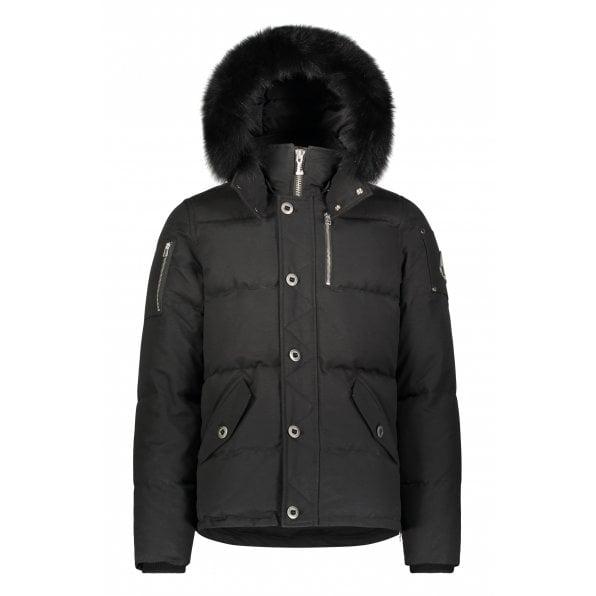 MOOSE KNUCKLES Black 3Q Jacket with Black Fur