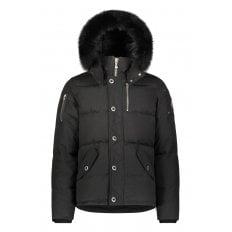 Black 3Q Jacket with Black Fur