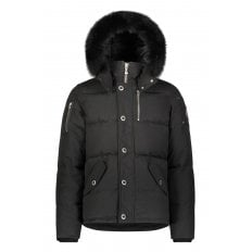 Black 3Q Jacket with Black Fur