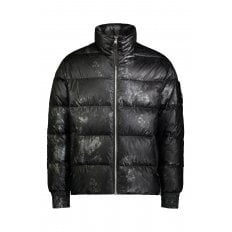 BLACK CARBON PRINT JAVENLIN PUFFER JACKET