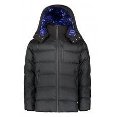 Black CAROUSEL Metallic Lined Goose Down filled Puffer jacket