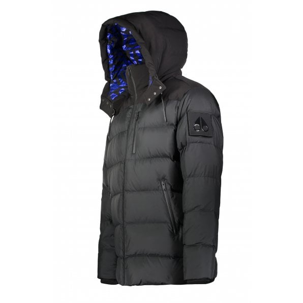 MOOSE KNUCKLES Black CAROUSEL Metallic Lined Goose Down filled Puffer jacket