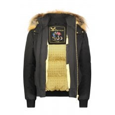 Black Rapids Bomber Jacket with Gold Fur