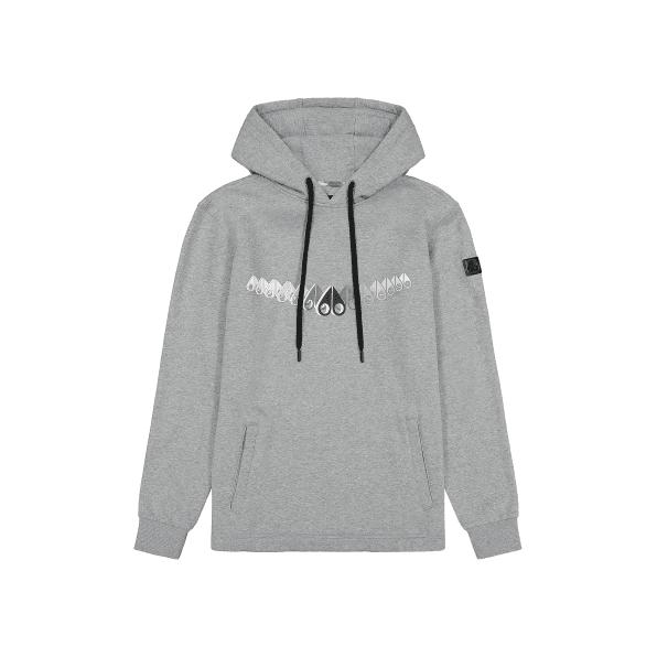MOOSE KNUCKLES Grey Melange BRUNSWICK hoodie