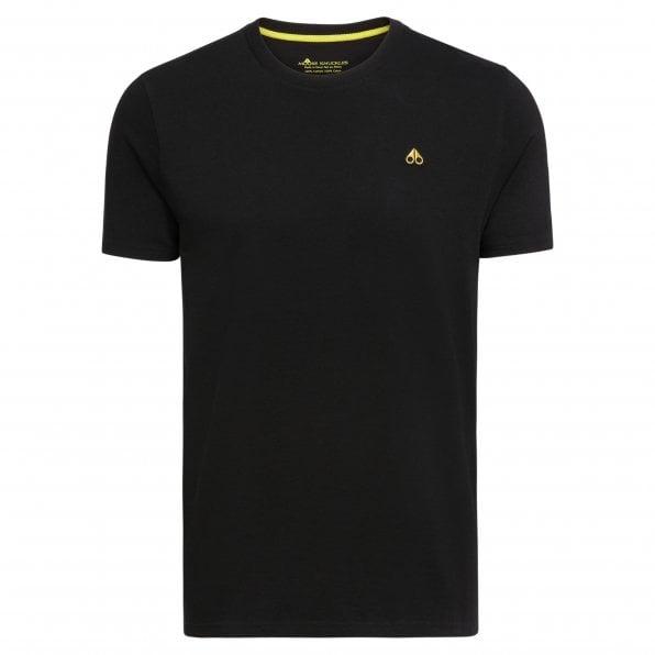 MOOSE KNUCKLES Mens Black Classic Logo Crewneck Tee Shirt