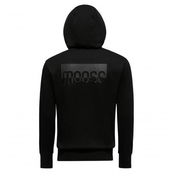 MOOSE KNUCKLES Mens Black Fugazi Zip Up Hoodie