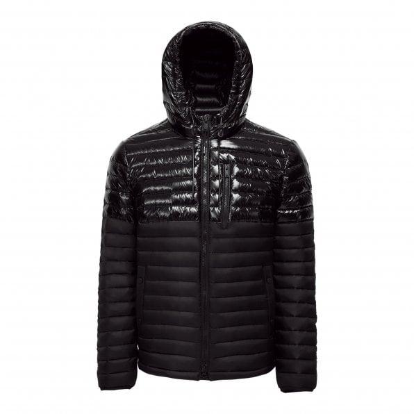 MOOSE KNUCKLES Mens Black Quilted Ropper Jacket