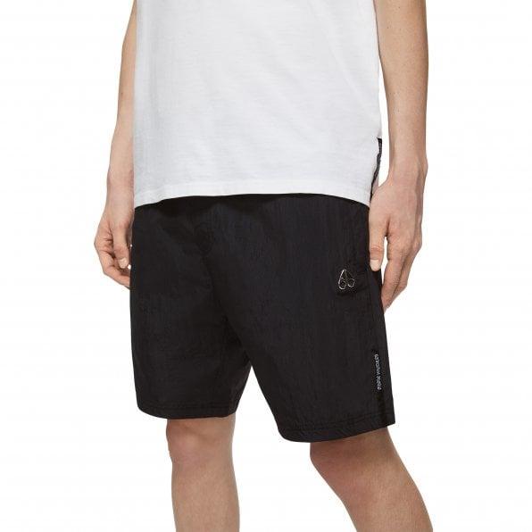 MOOSE KNUCKLES Mens Black Supergrass Shorts