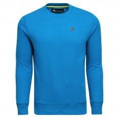 Moose Knuckles Mens Brit Blue Greyfield Crewneck Sweatshirt