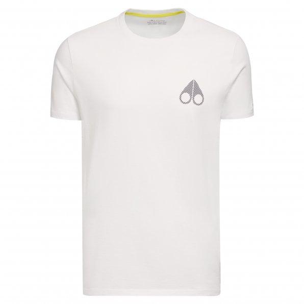 MOOSE KNUCKLES Mens White Cassettes Crewneck T-Shirt