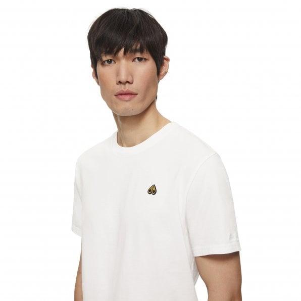 MOOSE KNUCKLES Mens White Classic Logo Crewneck Tee Shirt